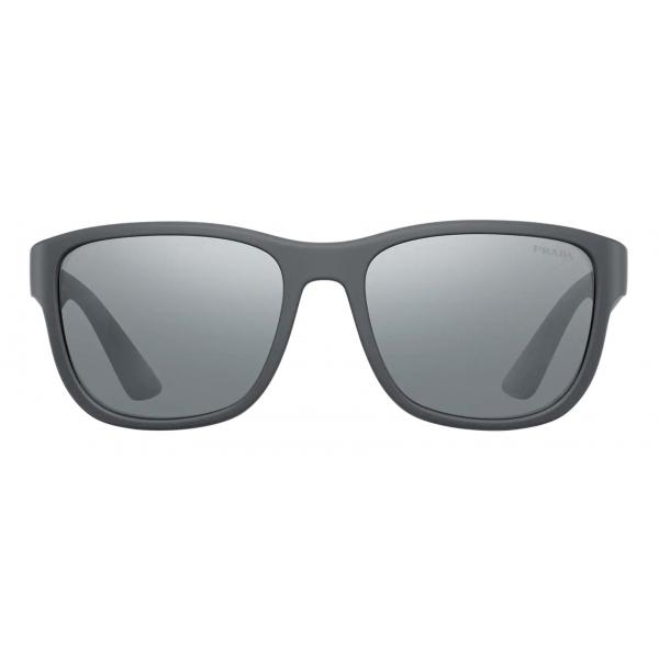 Prada - Prada Linea Rossa Flask - Rectangular - Gray - Prada Collection - Sunglasses - Prada Eyewear