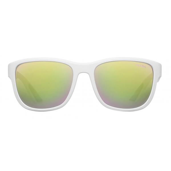 Prada - Prada Linea Rossa Flask - Rectangular - White - Prada Collection - Sunglasses - Prada Eyewear