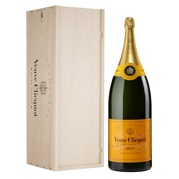 Veuve Clicquot Champagne - Yellow Label - Brut - Nabuchodonosor - Cassa Legno - Pinot Noir - Luxury Limited Edition - 15 l