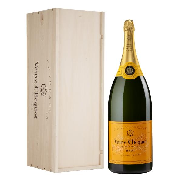 Veuve Clicquot Champagne - Yellow Label - Brut - Balthazar - Cassa Legno - Pinot Noir - Luxury Limited Edition - 12 l
