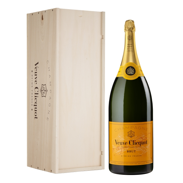 Veuve Clicquot Champagne - Yellow Label - Brut - Balthazar - Wood Box - Pinot Noir - Luxury Limited Edition - 12 l