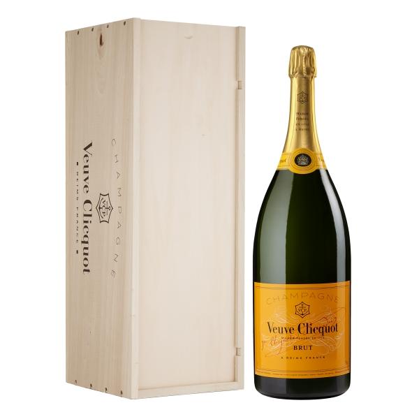Veuve Clicquot Champagne - Yellow Label - Brut - Mathusalem - Wood Box - Pinot Noir - Luxury Limited Edition - 6 l