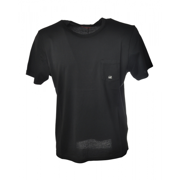 C.P. Company - T-Shirt in Cotone - Nero - Luxury Exclusive Collection