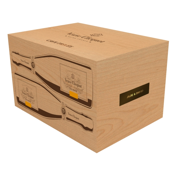 Veuve Clicquot Champagne - Cave Privée - 1982 - Wood Box - Pinot Noir - Luxury Limited Edition - 750 ml
