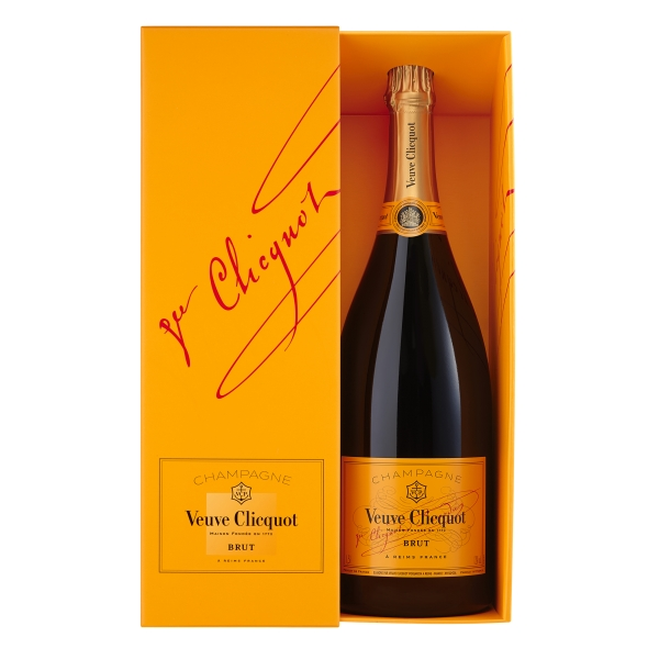 Veuve Clicquot Champagne - Yellow Label - Brut - Magnum - Astucciato - Pinot Noir - Luxury Limited Edition - 1,5 l