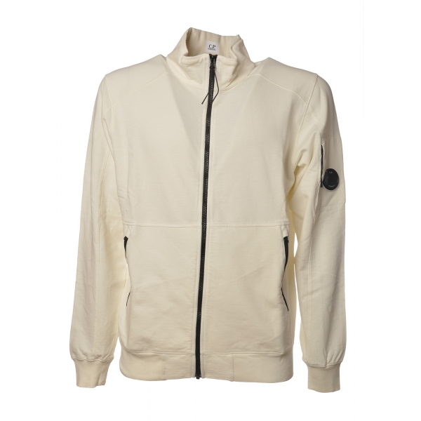C.P. Company - Sweatshirt with Front Zip Closure - White - Luxury Exclusive Collection