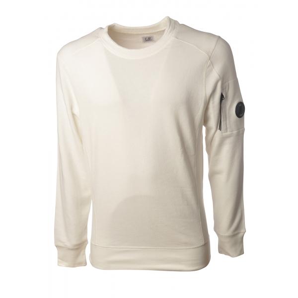 C.P. Company - Raglan Crewneck Sweatshirt - White - Luxury Exclusive Collection