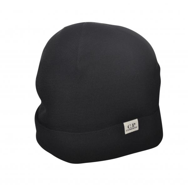 C.P. Company - Beanie Cap - Black - Luxury Exclusive Collection