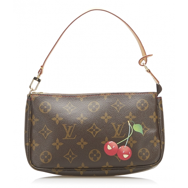 Louis Vuitton Vintage - Monogram Cerises Pochette Accessoires Bag - Brown - Monogram Leather Handbag - Luxury High Quality