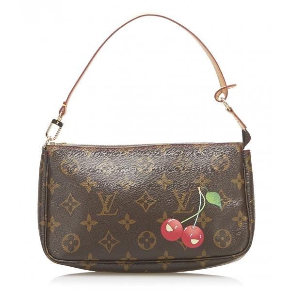 Louis Vuitton Vintage - Monogram Cerises Pochette Accessoires Bag - Marrone - Borsa in Pelle Monogramma - Alta Qualità Luxury