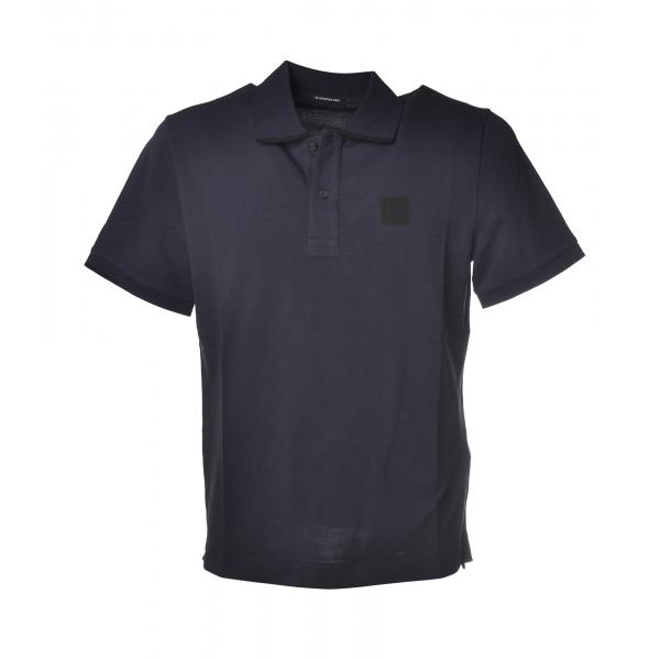 C.P. Company - Polo in Piquet di Cotone - Blu - Luxury Exclusive Collection