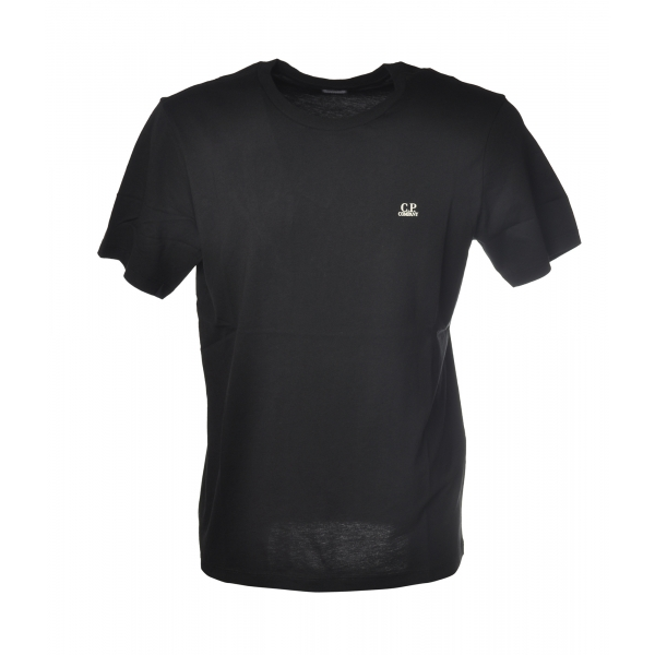 C.P. Company - T-Shirt Girocollo con Logo - Nero - Luxury Exclusive Collection