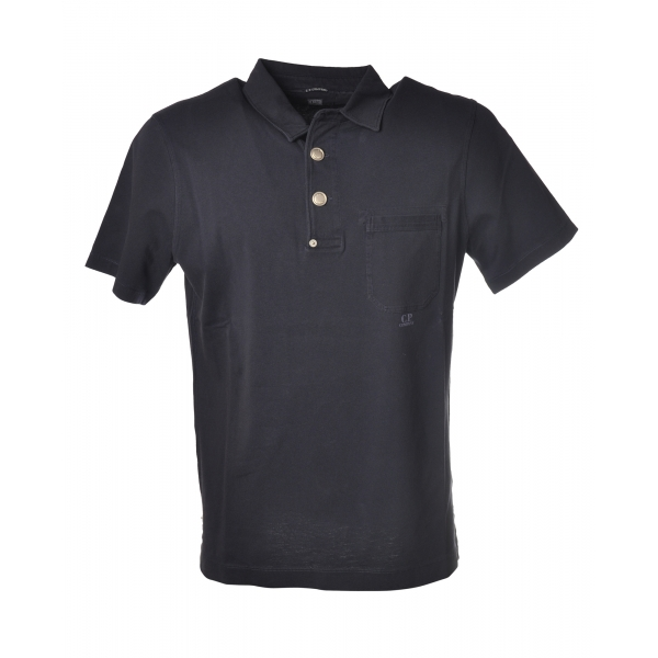C.P. Company - Polo with Pocket - Blue - Luxury Exclusive Collection