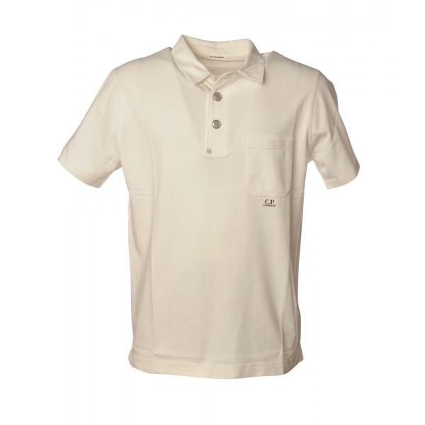 C.P. Company - Polo con Taschino - Bianco - Luxury Exclusive Collection