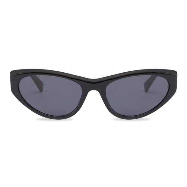 Moschino - Logo Mask Sunglasses - Gold Grey - Moschino Eyewear