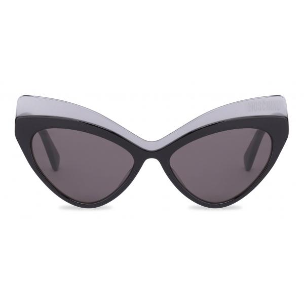 Moschino - Occhiali da Sole con Lenti Triangolari - Grigio Scuro - Moschino Eyewear