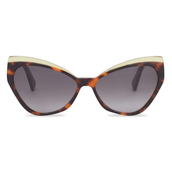 Moschino - Occhiali da Sole Cat-Eye Tartarugati - Marrone - Moschino Eyewear