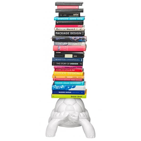 Qeeboo - Turtle Carry Bookcase - Bianco - Libreria Qeeboo by Marcantonio - Arredo - Casa