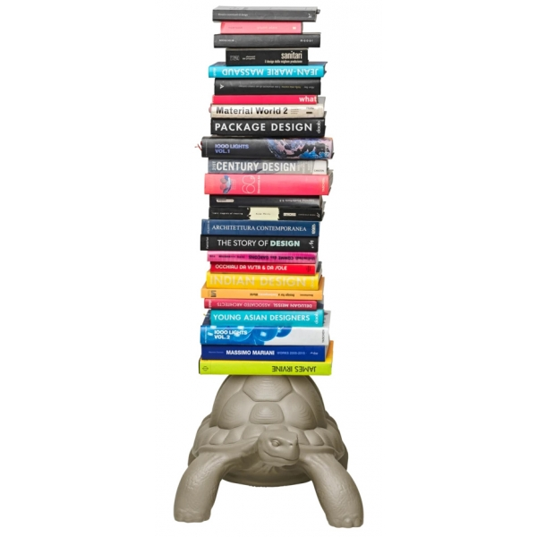 Qeeboo - Turtle Carry Bookcase - White - Qeeboo Bookcase by Marcantonio - Furnishing - Home