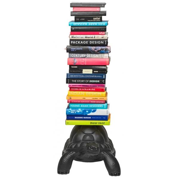 Qeeboo - Turtle Carry Bookcase - Black - Qeeboo Bookcase by Marcantonio - Furnishing - Home