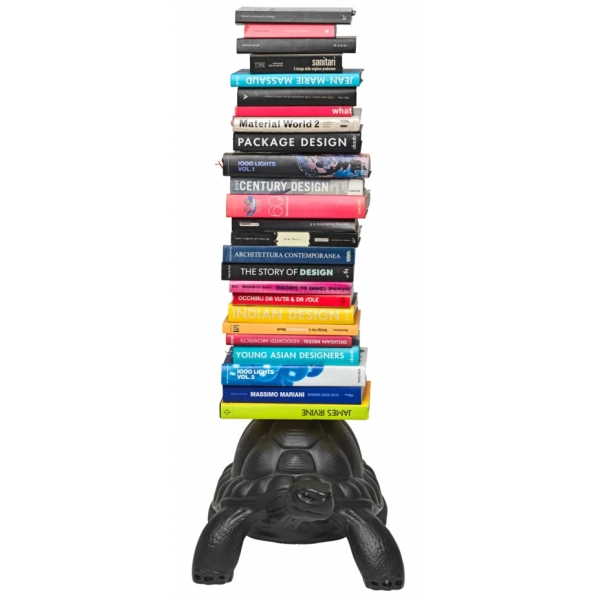 Qeeboo - Turtle Carry Bookcase - Nero - Libreria Qeeboo by Marcantonio - Arredo - Casa
