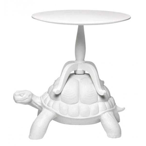 Qeeboo - Turtle Carry Coffee Table - Bianco - Tavolino da Caffè Qeeboo by Marcantonio - Arredo - Casa