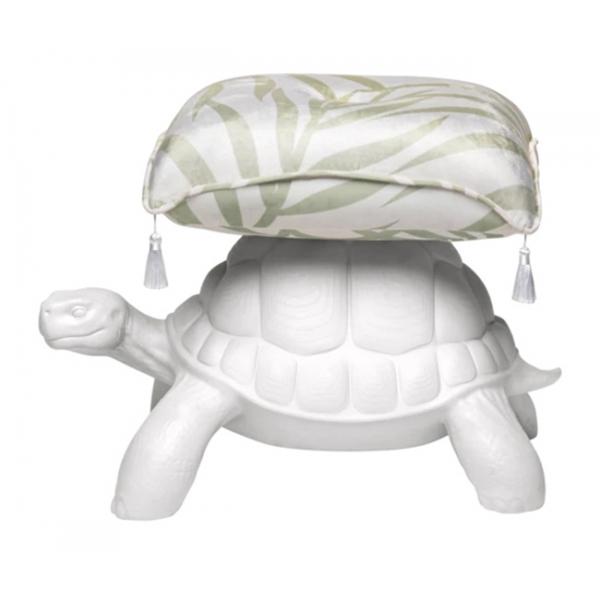 Qeeboo - Turtle Carry Pouf - Bianco - Pouf Qeeboo by Marcantonio - Arredo - Casa