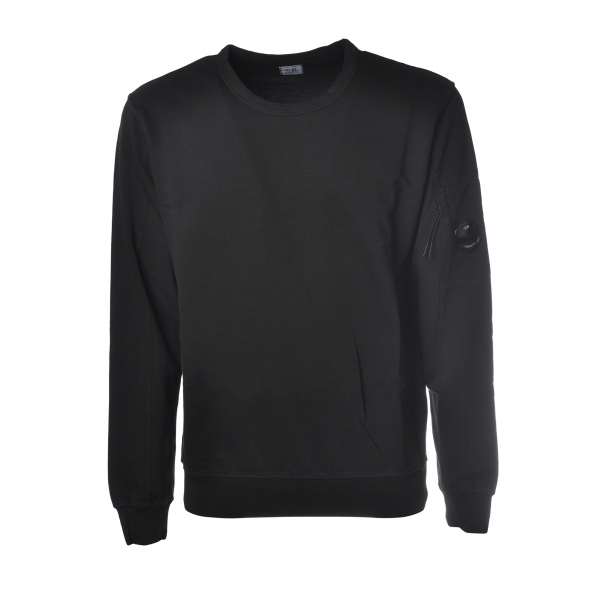 C.P. Company - Crewneck Sweatshirt with Logo - Black - Luxury Exclusive Collection