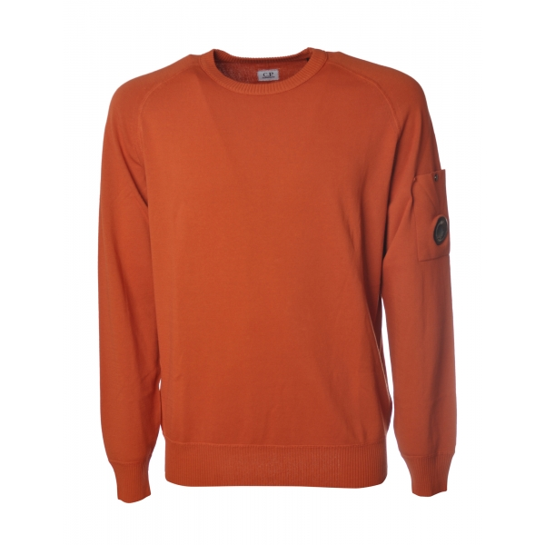 C.P. Company - Pullover Made of Cotton Crepe - Orange - Sweater - Luxury Exclusive Collection