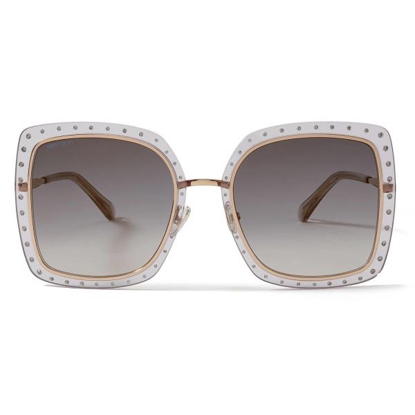 Jimmy Choo - Dany - Grey and Gold Square-Frame Sunglasses - Jimmy Choo Eyewear