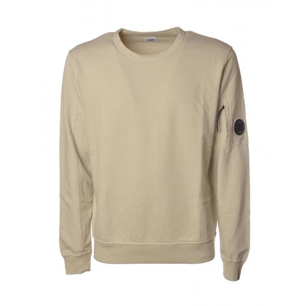 C.P. Company - Crewneck Sweatshirt with Logo - Sandy - Luxury Exclusive Collection