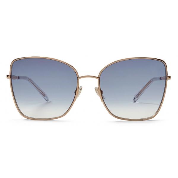 Jimmy Choo - Dany - Occhiali da Sole Quadrati Grigi e Dorati - Jimmy Choo Eyewear