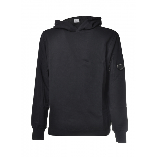 C.P. Company - Hooded Sweatshirt with Logo - Blue - Luxury Exclusive Collection