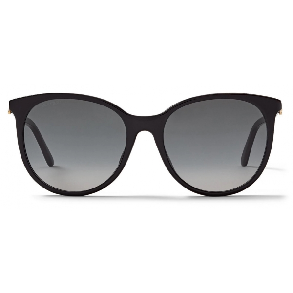 Jimmy Choo - Aly - Occhiali da Sole Cat-Eye Color Carne con Glitter e Decorazioni in Swarovski - Jimmy Choo Eyewear