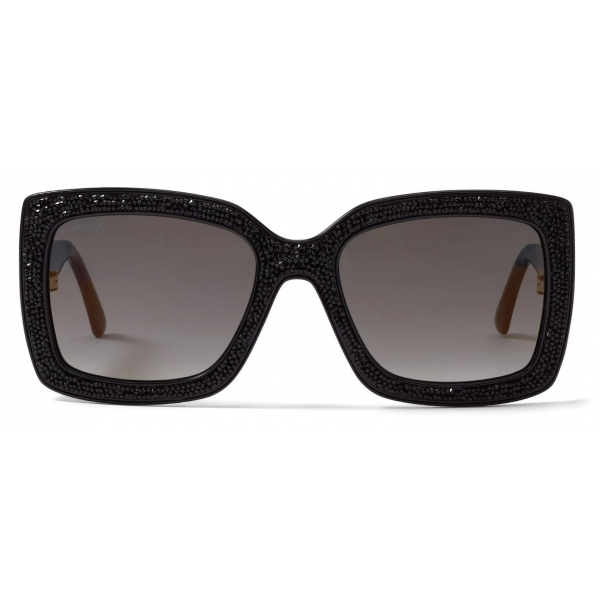 Jimmy Choo - Viv - Black Swarovski Crystal Square-Frame Sunglasses - Jimmy Choo Eyewear