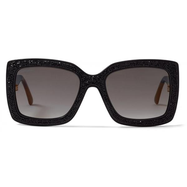 Jimmy Choo - Ilana - Occhiali da Sole con Montatura Ovale Avana Rosa con Emblema JC - Jimmy Choo Eyewear