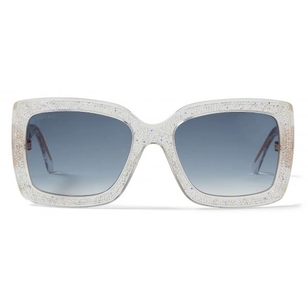 Jimmy Choo - Viv - Swarovski Crystal Square-Frame Sunglasses - Jimmy Choo Eyewear