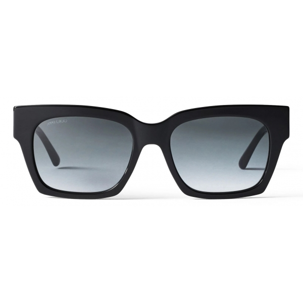 Jimmy Choo - Jo - Occhiali da Sole Squadrati con Occhielli Color Avana e Glitter con Logo JC - Jimmy Choo Eyewear
