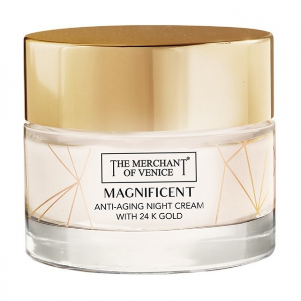 The Merchant of Venice - Magnificent Nourishing Anti-Aging Night Cream with 24K Gold - Luxury Venetian Cosmetics - 50 ml