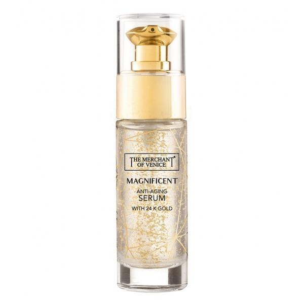 The Merchant of Venice - Magnificent Anti-Aging Serum with 24K Gold - Luxury Venetian Cosmetics - 30 ml