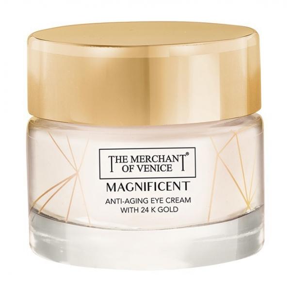 The Merchant of Venice - Magnificent Crema Contorno Occhi Anti-Ageing con Oro 24K - Cosmetici Luxury Veneziani - 15 ml