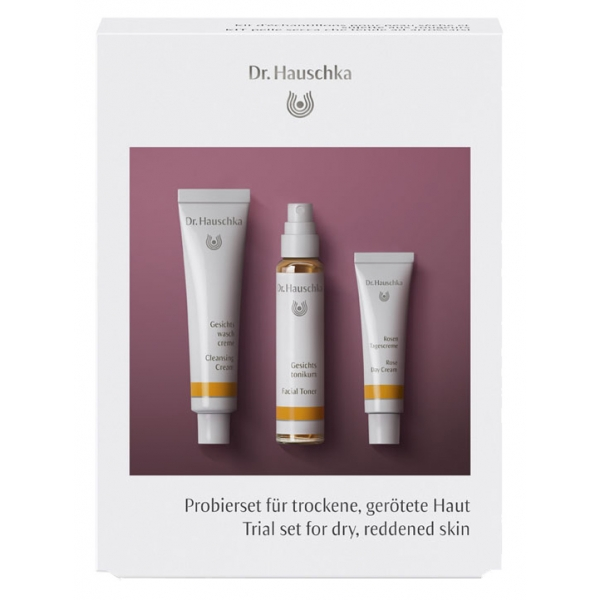 Dr. Hauschka - Trial Set for Dry, Reddened Skin - Richly Moisturising Care for Every Day - Professional Luxury Cosmetics