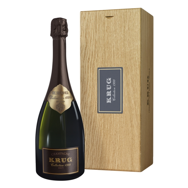 Krug Champagne - Collection - 1988 - Cassa Legno - Pinot Noir - Luxury Limited Edition - 750 ml