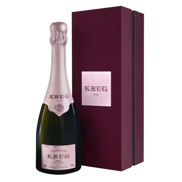 Krug Champagne - Rosé - Mezza - Astucciato - Pinot Noir - Luxury Limited Edition - 375 ml