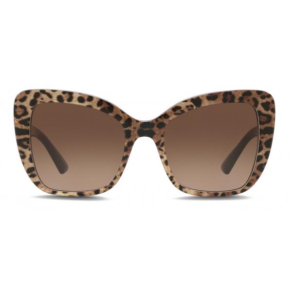 Dolce & Gabbana - Half Print Sunglasses - Leo Print - Dolce & Gabbana Eyewear