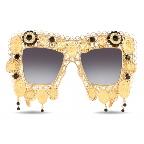 Dolce & Gabbana - Devotion Sunglasses - Gold - Dolce & Gabbana Eyewear
