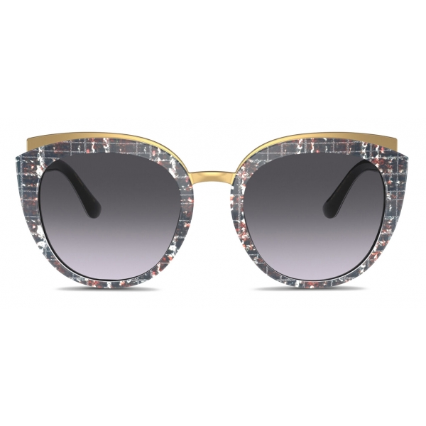 Dolce & Gabbana - Occhiale da Sole Print Family - Stampa Tweed - Dolce & Gabbana Eyewear