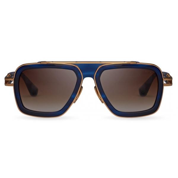 DITA - LXN-EVO - Blue Swirl Gold - DTS403 - Sunglasses - DITA Eyewear