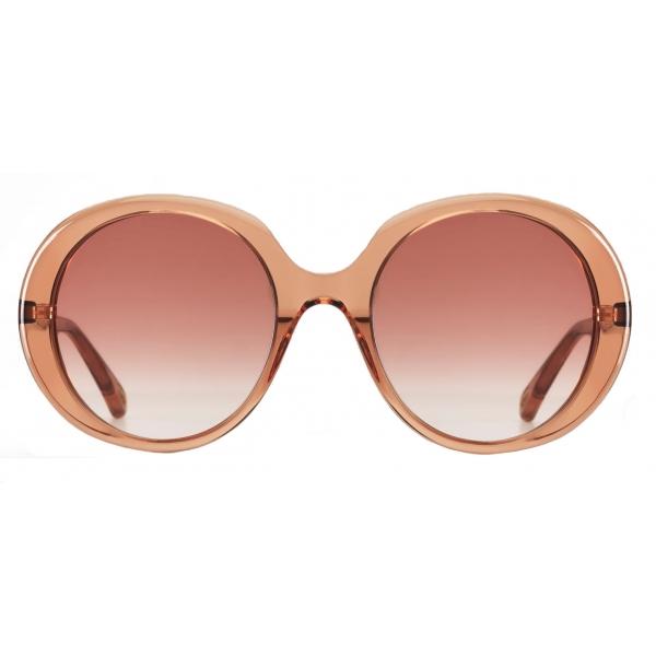Chloé - Esther Oval Sunglasses for Women in a Bio-based Material - Peach - Chloé Eyewear
