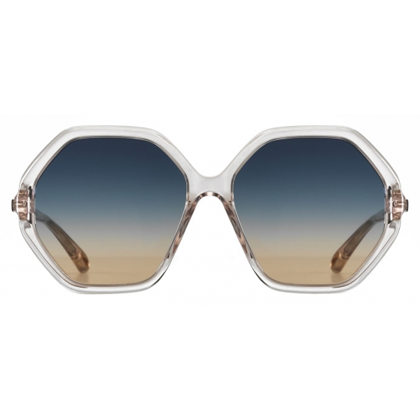 Chloé - Occhiali da Sole Ottagonali da Donna Esther in Materiale di Origine Bio - Rosa Chiaro Nude - Chloé Eyewear